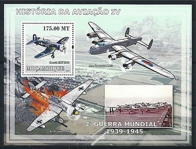 MOZAMBIQUE MOSAMBIK 2009 HISTORY OF AVIATION AIRCRAFT MNH MiNr: BLOCK 256 A