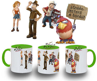 TAZA TADEO JONES COLORES mug tazza tasse coupe verde negra roja azul blanca ...