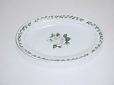 Hall Superior China Cameo Rose Pattern Oval Serving Platter