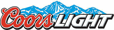 "COORS LIGHT Vinyl Sticker Decal 18"" (full color)"