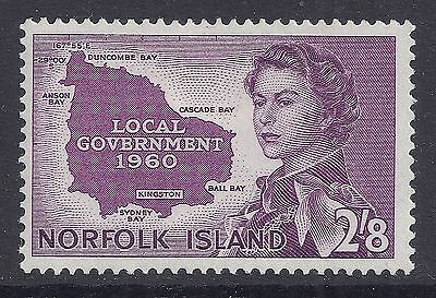 1960 NORFOLK ISLAND 2/8d INTRODUCTION OF LOCAL GOVERNMENT FINE MINT MNH/MUH