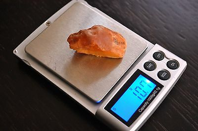 10,7 grams 100 % Real Natural Red Yellow Unique Genuine Baltic Amber Raw Stone