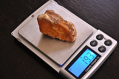 19,3 grams 100 % Real Natural Genuine Butterscotch Baltic Unique Amber Stone Raw