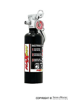 H3R MaxOut Dry Chemical Fire Extinguisher, 1 lb Black