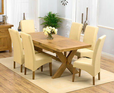 Provence solid oak furniture Dining Room Table and 6 Roma chairs Set