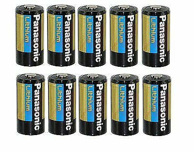 10 Pcs Panasonic Lithium Cr123a 3v Photo Lithium Batteries 10