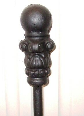 "Fireplace Poker Heavy Ball End 34"" Long Stoker Made In The Usa #fp003B"
