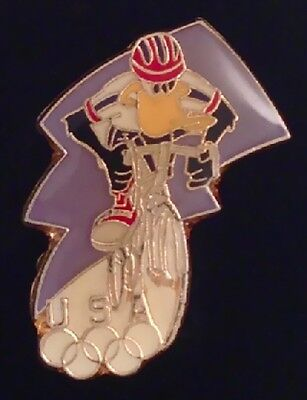 Cycling Pin Badge~Daffy Duck~Looney Tunes~Olympic USA Team~Atlanta 1996
