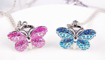 Wholesale 10 pcs Butterfly design necklace pendant watches Christmas Gifts L81