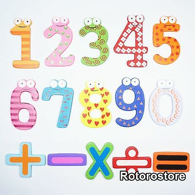 15 Set Numbers & Signs Fridge Magnets - Maths Early Learning Baby Kids - NEW