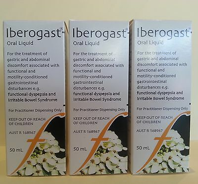 3x 50ml Flordis Iberogast Oral Liquid effective for IBS, Bloating, Dyspepsia