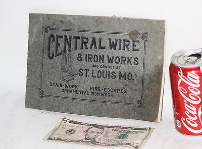 CENTRAL WIRE & IRON WORKS advertising pamplet ILLUSTRATED 1910 ornamental SIGNS