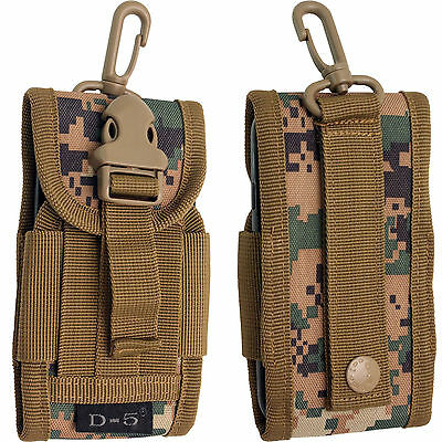 Universal Army Bag Digital Green Camouflage Belt Loop Hook Cover Holster Pouch