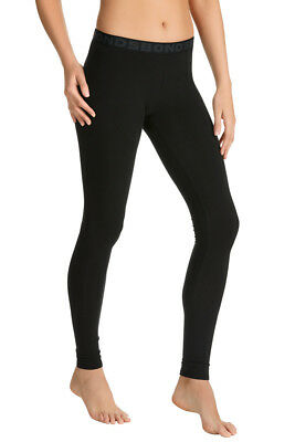 Womens Basic BONDS Black Hipster Cotton Leggings Gym Yoga Pants Size XS - XXL