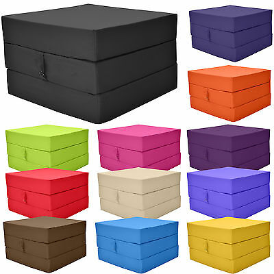 Fold Out Adult Cube Guest Z Bed Chair Stool Single Futon Chairbed pouffe Gilda