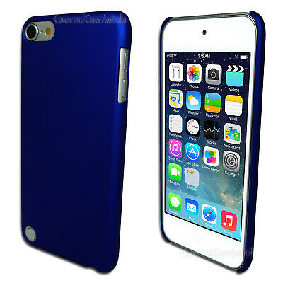 Blue Hard Case for Apple iPod Touch 5 5th GEN 5G Rubberised Plastic Cover
