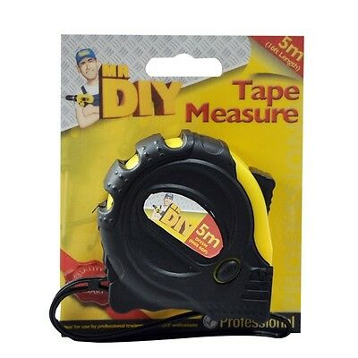 5M Retractable Metal Tape Measure Power Grip Lock Metric Imperial Measuring 16Ft