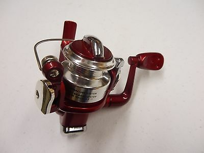 Ice Spinning Reel, Micro Tundra, 4 Ball Bearing Silver/Red, HT #TN-500S/R