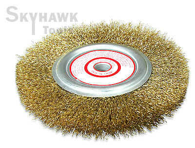 """6"""" X 1/2""""  Wire Wheel Brush  4 laps for Angle Grinder  4,500 RPM"""