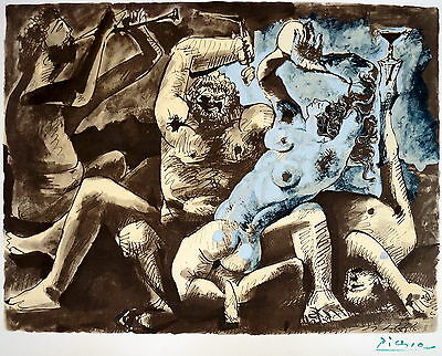 Pablo Picasso, Baccanale, 1955, 1967, Lithographie, Euroart