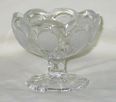 Fostoria Coin Glass Pattern Jelly/Jam Footed Dish