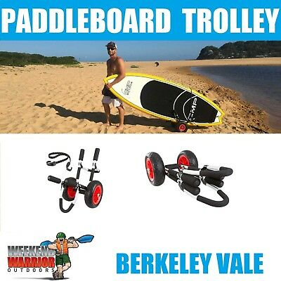 Stand up Paddleboard Trolley SUP Cart Aluminium SOLID WHEELS THAT CAN'T PUNCTURE