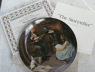 Norman Rockwell Plate - The Storyteller