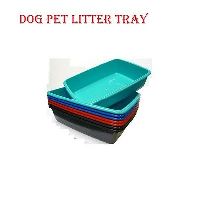 New Plastic Cat Dog Pet Litter Tray Blue/silver/red/teal Medium &large Uk Made