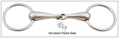 Borraq Loose Ring Snaffle Aurigan Gold with Stainless Steel Rings