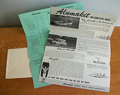 1959 ALUMAKIT Pre-Fabricated Boat Advertising for Fishing, Hunting etc