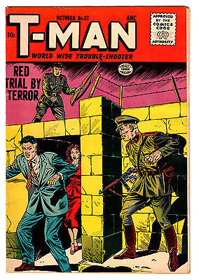 T-Man #37 6.0 Off-White Pages Silver Age