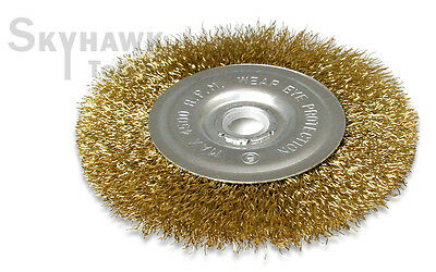 "New   4-1/2"" X 5/8"" Arbor  Wire Wheel Brush for Angle Grinder"