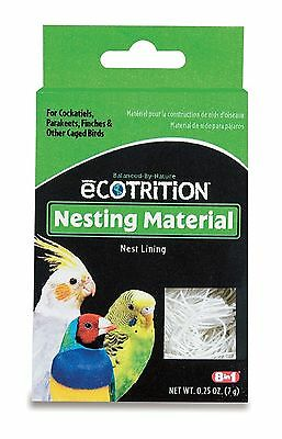 8 in 1 Ecotrition Nesting Material for Cockatiels, Parakeets, Finches 0.25oz