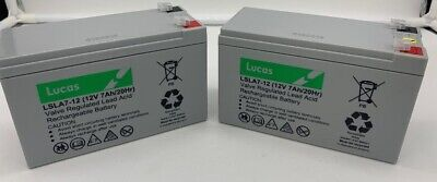 2 x LUCAS 12V 7AH Battery Electric Razor Scooter E300, Pocket Mod, MX350