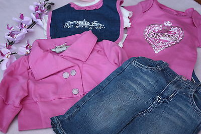 BNWT Guess Baby Girls 5 Piece Set Pink Sizes 0-3 3-6 Mths