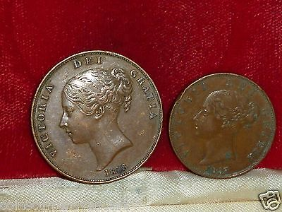 1853 UK (Great Britain) 1/2 Penny Extra Large Only for thisYear