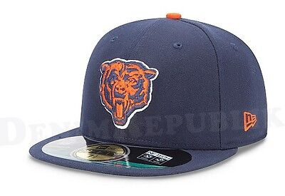New Era 5950 CHICAGO BEARS NFL On Field Cap Fitted Navy Hat 59FIFTY Bear GSH