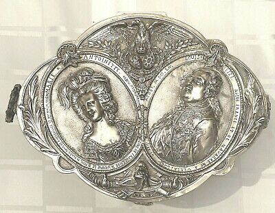 ORNATE ANTIQUE 1890's GEORG ROTH & COMPANY HANAU GERMANY SILVER CHEST