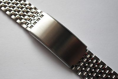 Beads of Rice Stainless Steel Watch Bracelet. Satin/polished finish. 18mm, 20mm