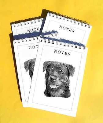 Rottweiler Pack of 4, A6 Dog Notepads Gift Set