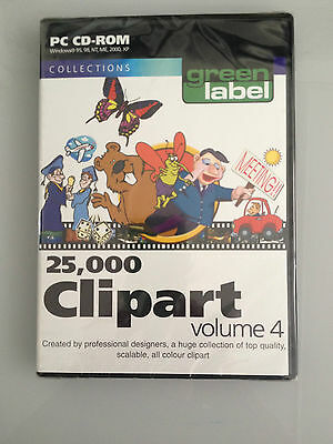 PC CD-ROM Collections Green Label 25,000 Clipart Volume 4