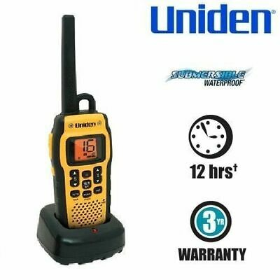 UNIDEN Submersible Waterproof 2.5W VHF Marine Radio that Floats Includes Carabin