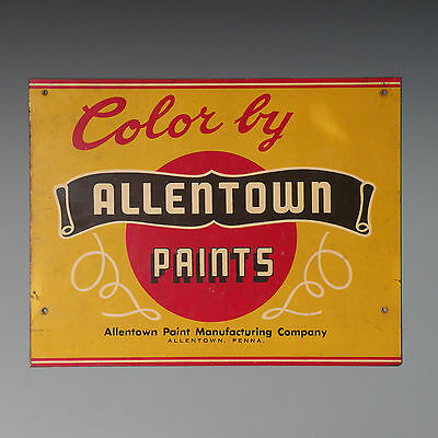 18 inch steel sign - Allentown Paint Manufacturing Company - Lehigh Valley, PA