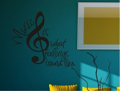 Wall Sticker Removable Home Decor Wall Art Decoration Mural Decal Vinyl Music