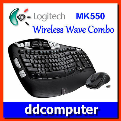 Logitech Wireless Wave Combo MK550 Keyboard and Laser Mouse Unifying receiver