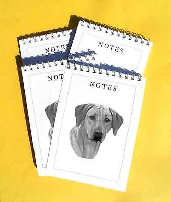 Rhodesian Ridgeback Pack of 4, A6 Dog Note Pads Gift Set