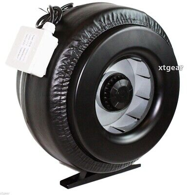 "New 12"" Inline 1200CFM Duct Fan Vent Exhaust Air Cooled Hydroponic Fan Blower"