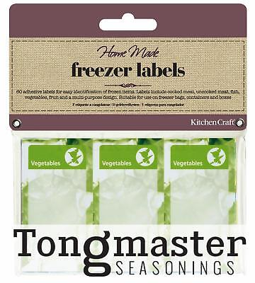 Pack of 60 Assorted Freezer Food labels for meat, fish, vegetables, fruit etc
