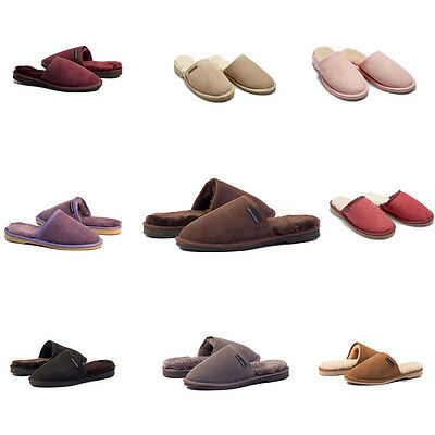 Mens Premium Australian Sheepskin Ugg Slippers / Scuffs - 13 Colors