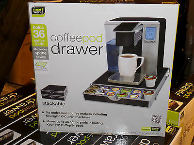 SmartWorks Coffee Pod Drawer HOLDS 36 KEURIG K-CUP PACKS *NEW FACTORY SEALED